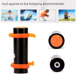 Waterproof MP3 Player with FM And 4GB Memory For Swimming - Black