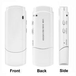 USB Stick With Hidden Spy Video Recorder - White