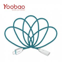 Yoobao Peacock Lightning Sync Cable - Blue