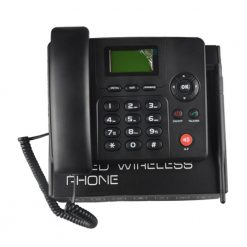 4G LTE Wireless Landline With Wifi Hot Spot Router - Black