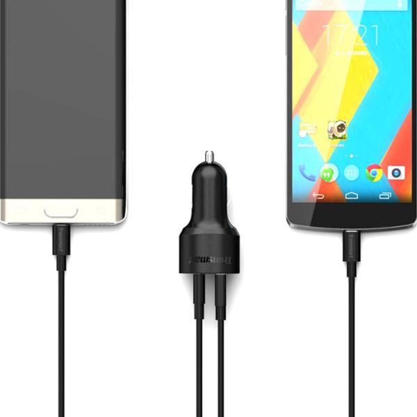 Tronsmart C2PE 27W Two Port USB 2.4A And Type-C 3A - Black