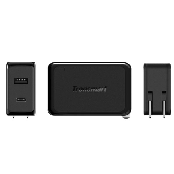 Tronsmart W2PE 27W Two Port USB 2.4 And USB Quick Charger 3.0 Charger - Black
