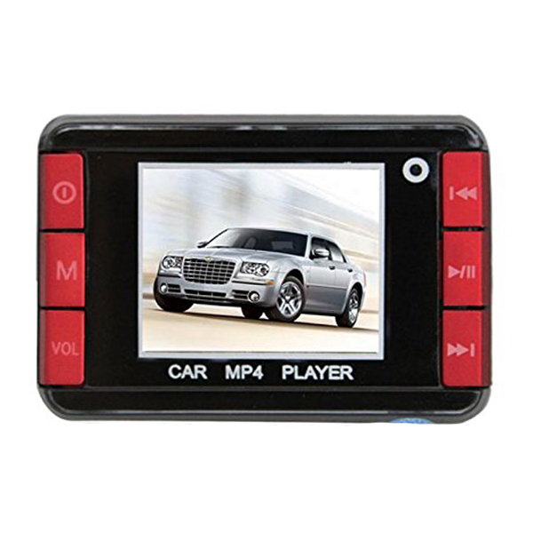 1.8 inches Color Screen Car MP4 Player with FM Modulator - Red