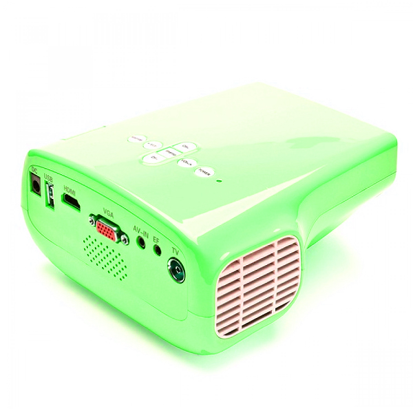 1080P Portable100 Lumens LED Overhead Projector with TV Tuner - Green