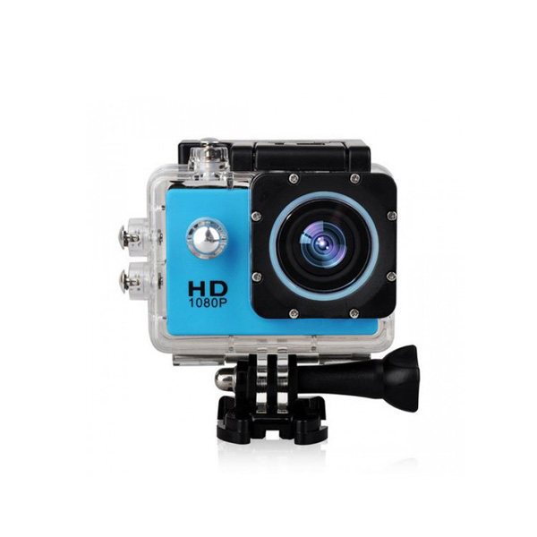 5MP Camera 1080P Video Camera Waterproof Sports Camera with 1.5 Inch LCD Monitor - Blue