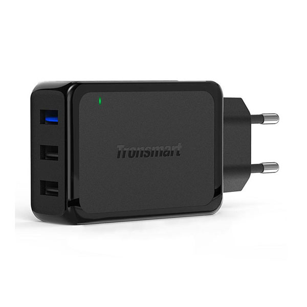 Tronsmart W3PTA 42W Three Port 1 USB Quick Charge 3.0 And 2 USB 2.4A Charger - Black