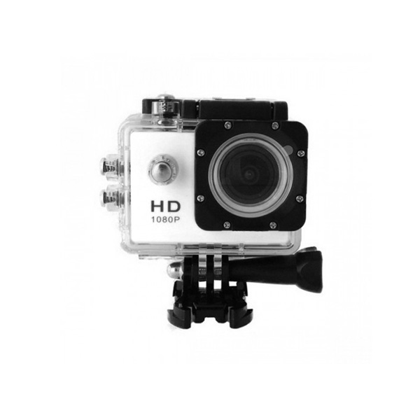 12 MP Photo Resolution 12 MP Image Sensor Action Camera with 1.5 inch LCD Monitor - White