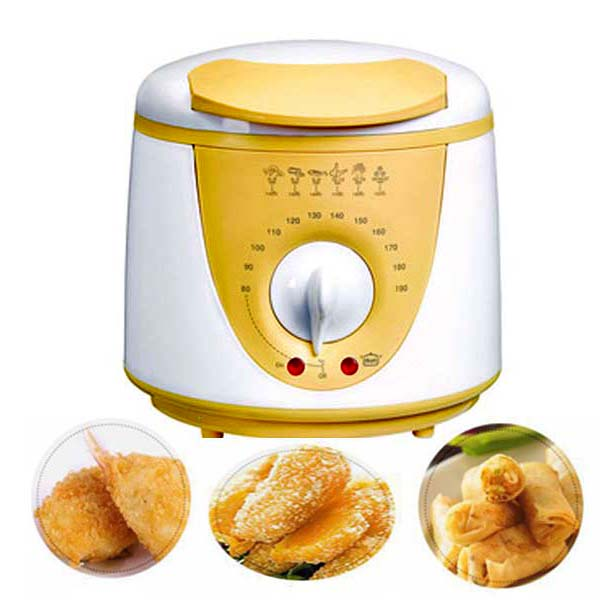 1 Liter Portable King Deep Fryer - Yellow