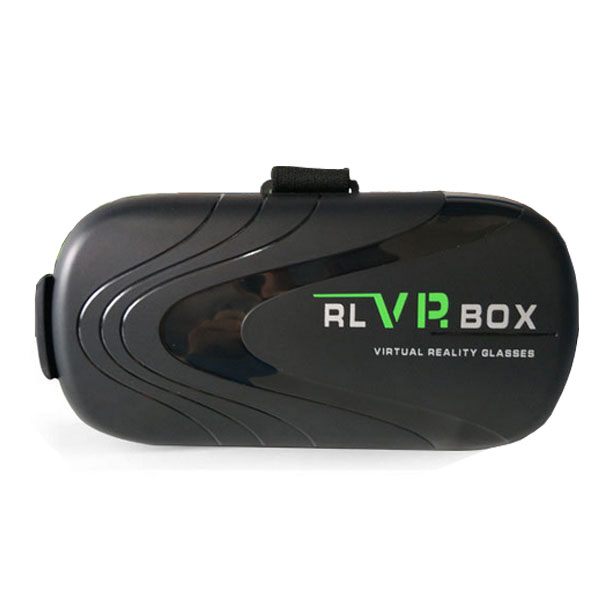 RL VR Virtual Reality Box Glasses With Bluetooth Controller - Black