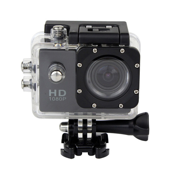12 MP Photo Resolution 12 MP Image Sensor Action Camera with 1.5 inch LCD Monitor - Black