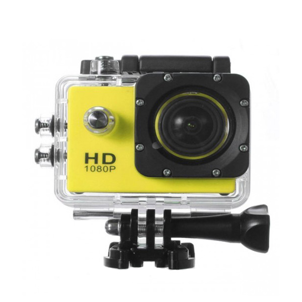 12 MP Photo Resolution 12 MP Image Sensor Action Camera with 1.5 inch LCD Monitor - Yellow