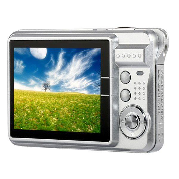 12 Mega Pixels Digital Camera 2.7 TFT LCD 8X Zoom - Silver