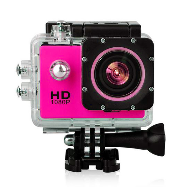 12 MP Photo Resolution 5MP Image Sensor  WIFI Action Camera with 1.5 inch LCD Monitor - Pink