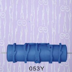 15cm Patterned Paint Roller Flower Mould - Blue
