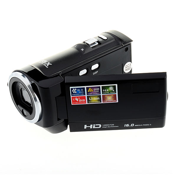 16MP HD Digital Camera Video Recorder - Black
