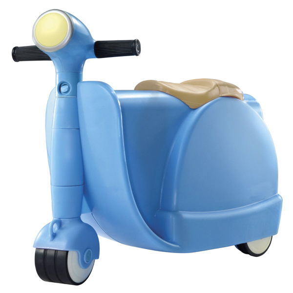 2 in 1 Children Ride On Scootcase - Blue