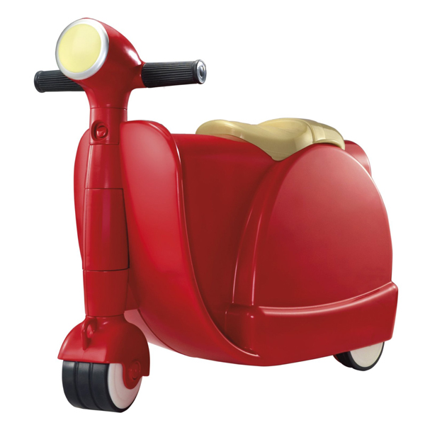 2 in 1 Children Ride On Scootcase - Red