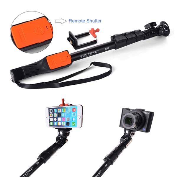42.5cm-125cm Monopod with Stage Lock and Bluetooth Shutter for Smart Phones and Camera - Black
