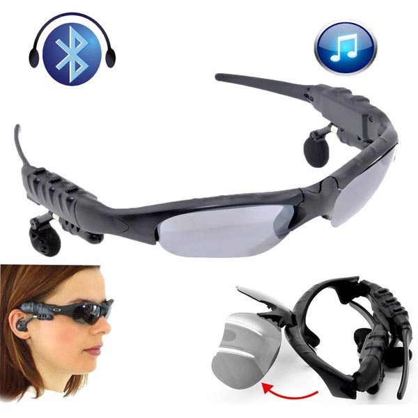 4GB Memory Bluetooth Sunglass With MP3 - Black