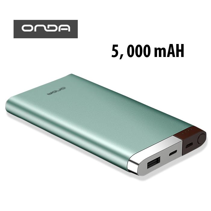 ONDA V50T 5,000 mAh Micro and Lightning Charged Powerbank - Green