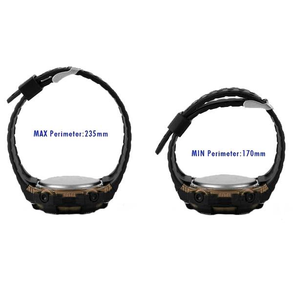 50M Depth Waterproof Sport Digital Winder Watch - Black/Brown