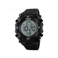 50M Waterproof Digital Quartz Sports Watch - Black/Silver