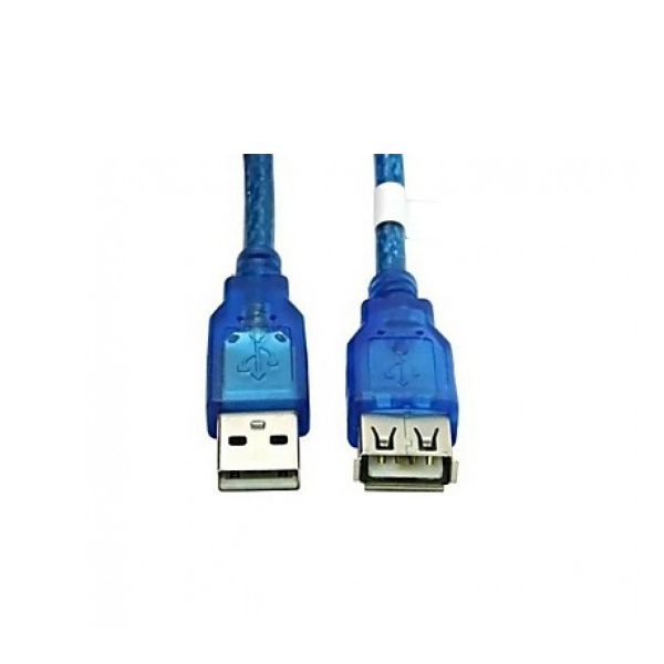 5 Meters Male to Female USB Extension Cable - Blue