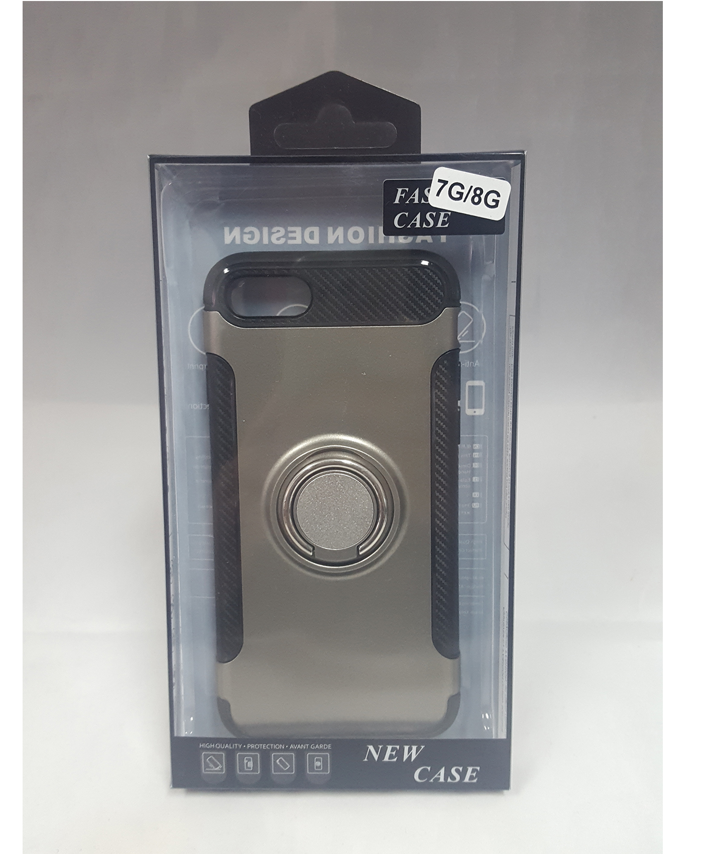 Gcase Fashion Design Case With Ring for Iphone 7 or 8 - Grey