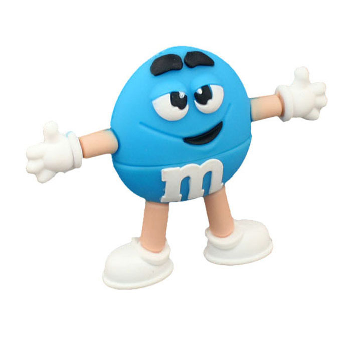 8GB M & M Beans Flash Drive - Blue