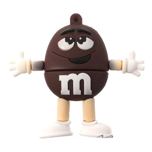 8GB M & M Beans Flash Drive - Brown