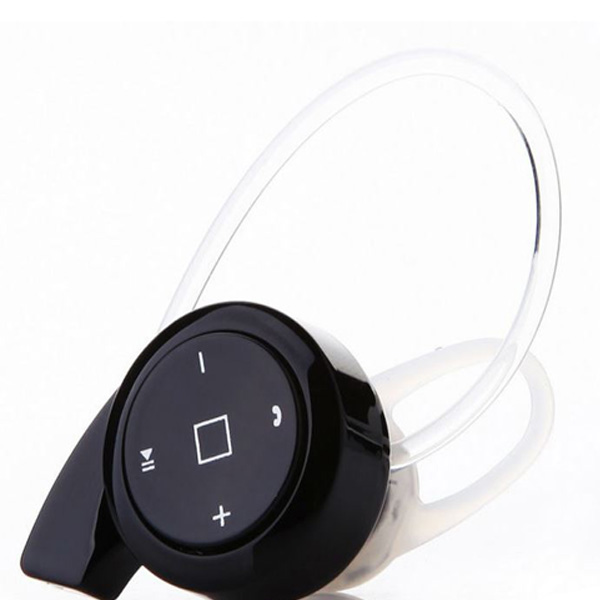 Button Type Bluetooth 4.0 Headset - Black