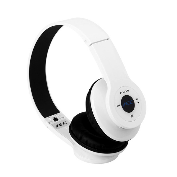 AEC Foldable Bluetooth Headphones With FM And Mp3 Player - White