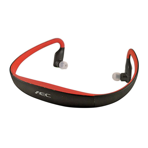 AEC Sport Bluetooth Headset with FM Radio And Mp3 Player - Red