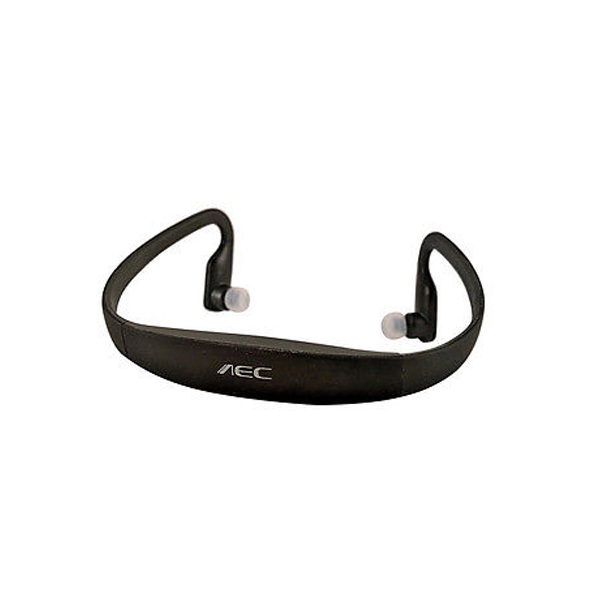 AEC Sports Mp3 Player Headset With FM - Black