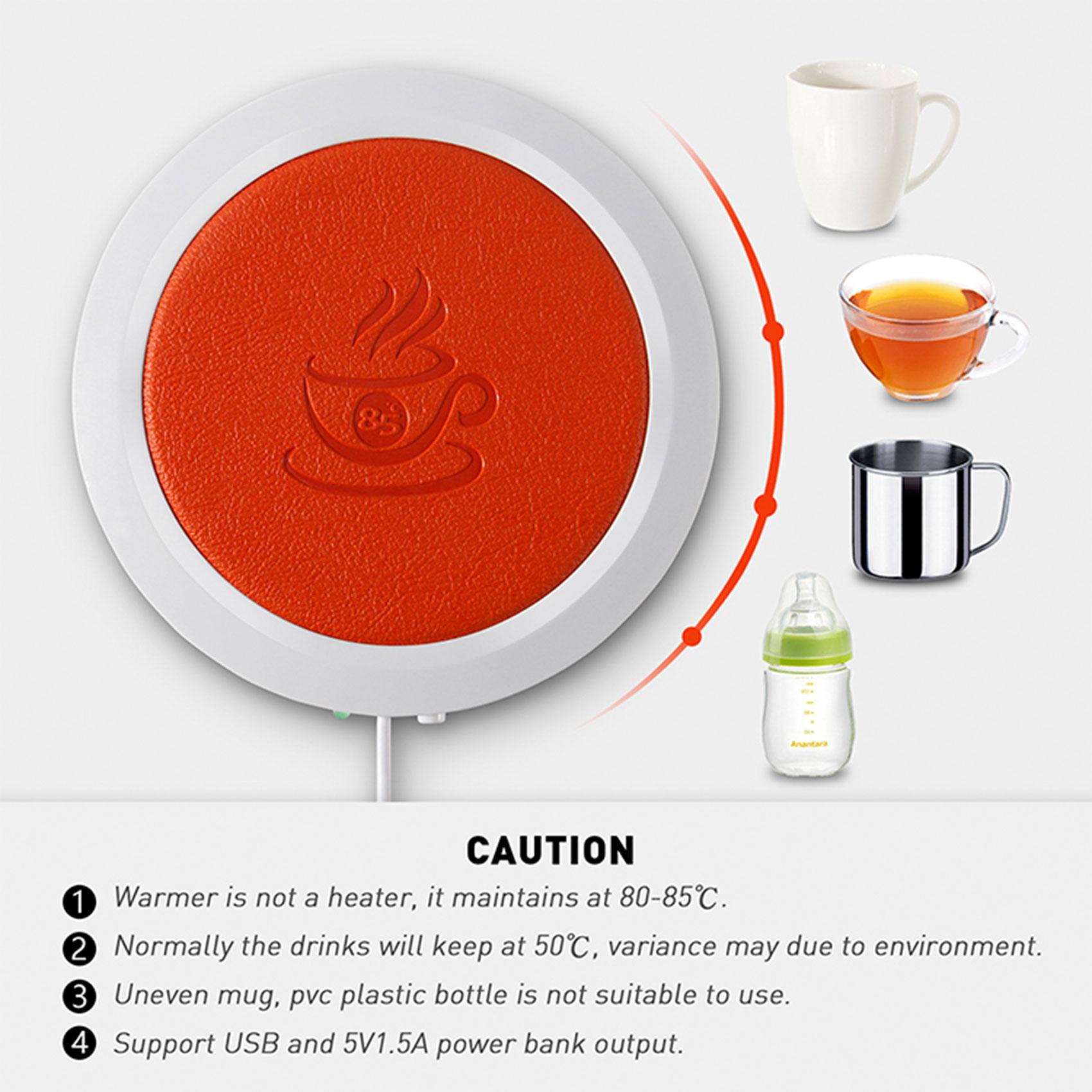 USB Coffee and Tea Mug Warmer – Black