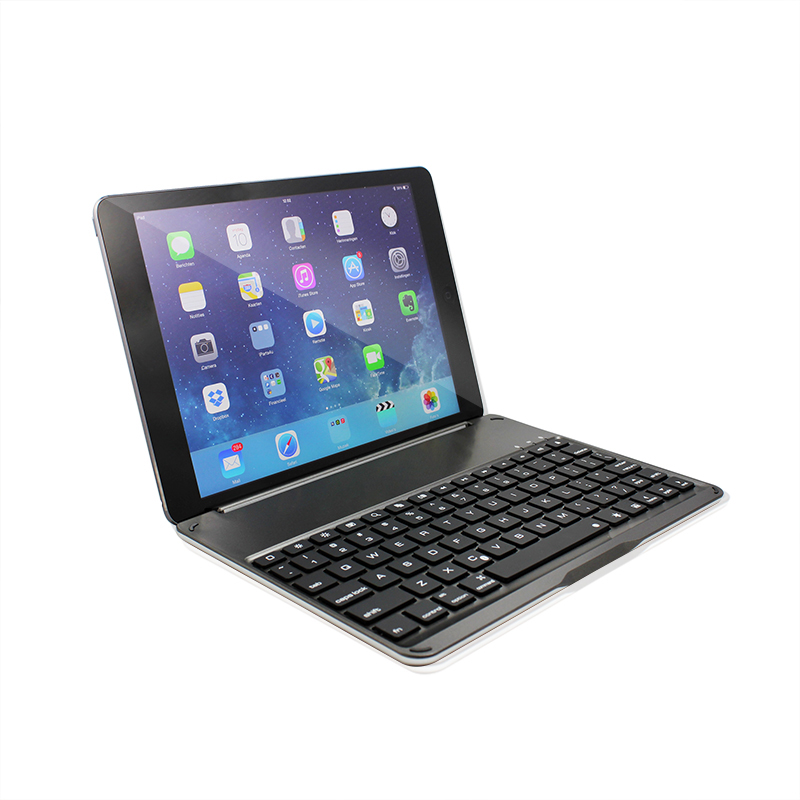 F9 Ultra-thin Aluminum Keyboard Case For iPad Air - Black