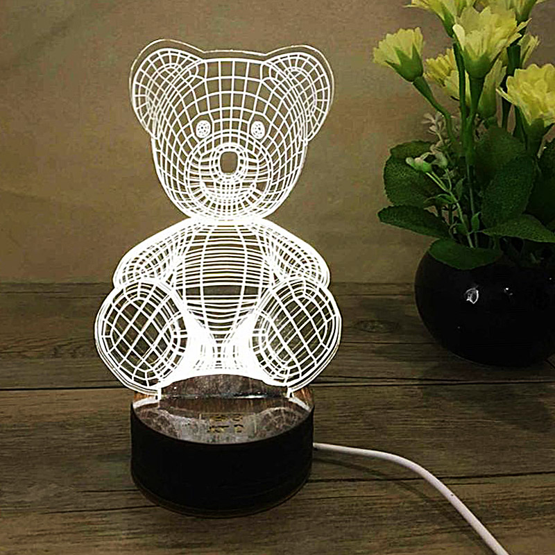 3D LED Light Bear Shaped Table Lamp