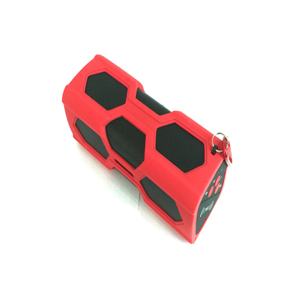 Portable Active Bluetooth Music Player And Speakers - Red