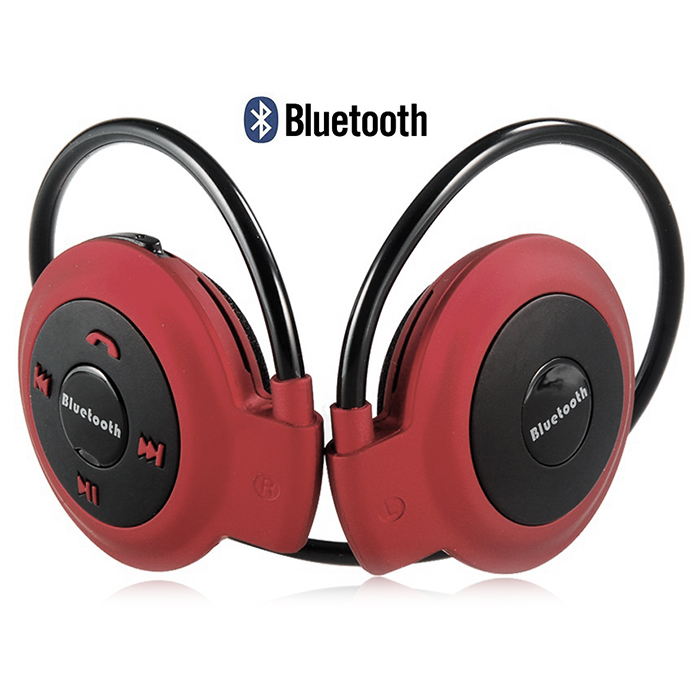 Bluetooth Wireless Stereo Headset -Red Black