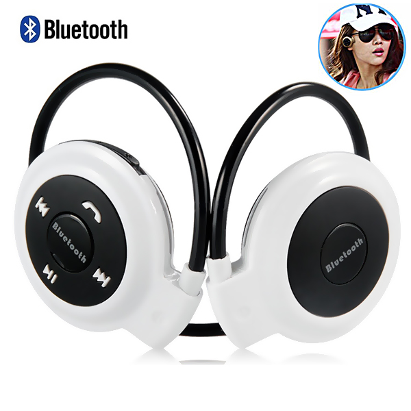 Bluetooth Wireless Stereo Headset - White