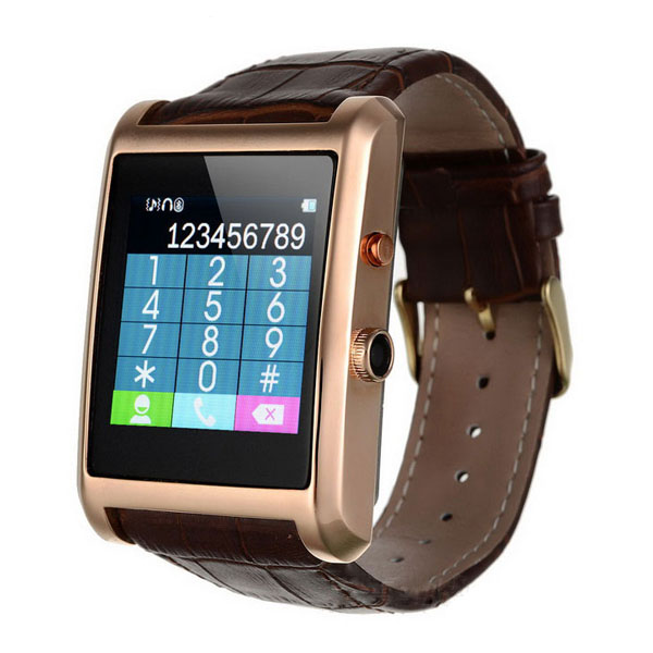 Smart Watch Phone With Bluetooth Call & SMS - Gold