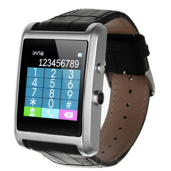 Smart Watch Phone With Bluetooth Call & SMS - Silver