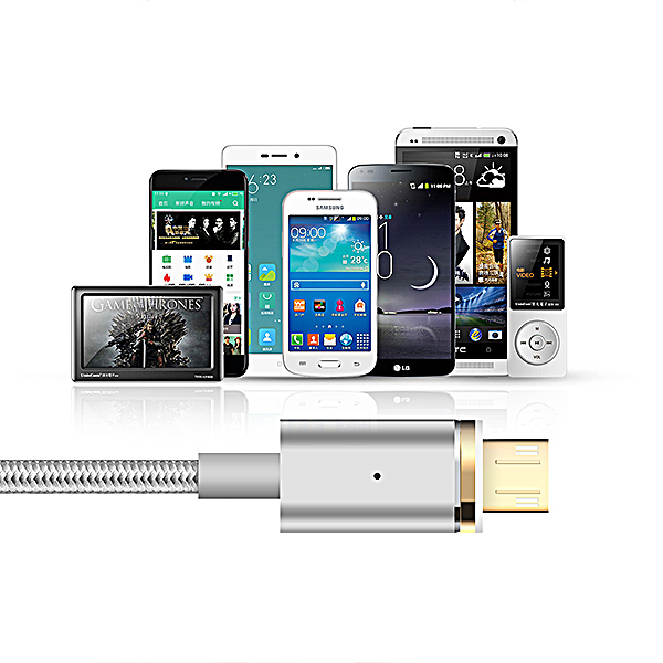 Mcdodo Micro USB Magnetic Data Cable Dust Plug - Silver
