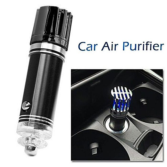 Car Air Purifier and Dust Remover - Black