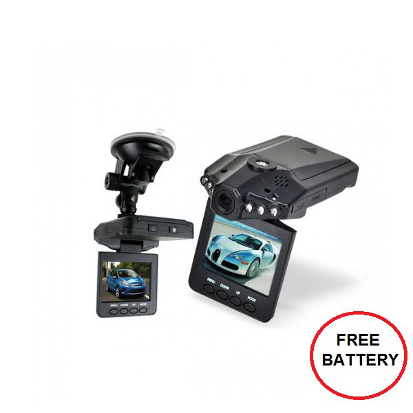 Car CCTV Camera Road Recorder with IR - Black