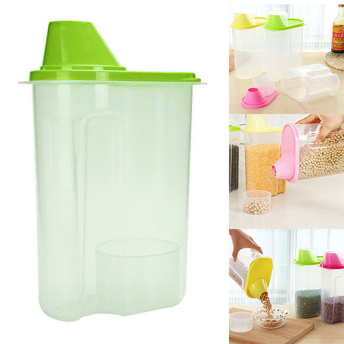 Cereal Dispenser Jar Storage Containers 2.5 Liter - Green
