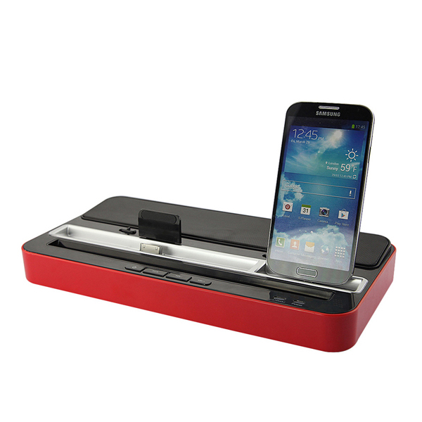 Ipega Universal Charger Dock Stand with Speaker - Red/Black