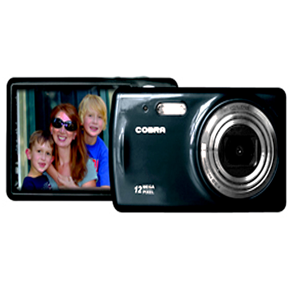 Cobra 12.0 Megapixel Digital Camera - Black