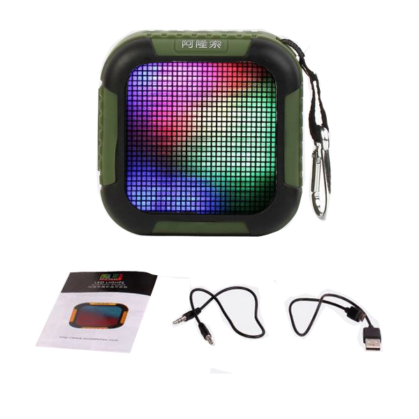 Colorful LED Lights Pulse Wireless Bluetooth 4.0 Speaker - Green