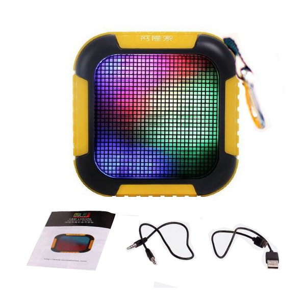 Colorful LED Lights Pulse Wireless Bluetooth 4.0 Speaker - Yellow